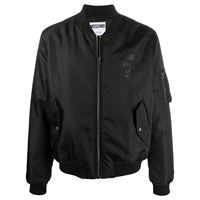 Moschino - bomber double question mark - men - poliammide/poliestere/viscosa - 46, 48, 50, 52 - di colore nero