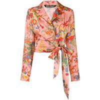 Palm Angels camicia con nodo - di colore rosa