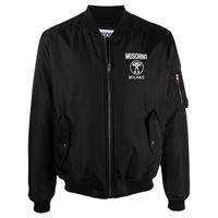 Moschino - bomber double question mark - men - poliammide/poliestere/viscosa - 46, 48, 50, 52, 54 - di colore nero