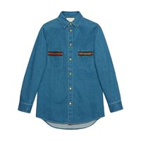 Gucci camicia denim - blu