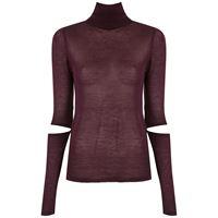 Gloria Coelho maglione con cut-out - rosso