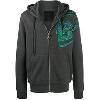 Philipp Plein giacca sportiva con ricamo - grigio
