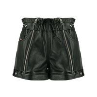 Diesel shorts biker con zip - nero