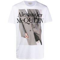 Alexander McQueen t-shirt con stampa - bianco
