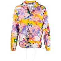 Comme Des Garçons Shirt - tie-dye graphic print jacket - men - cotone/poliestere - s, m, l, xl - di colore rosa