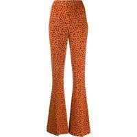 Miu Miu pantaloni svasati con stampa - arancione
