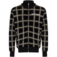 Palm Angels - giacca sportiva a quadri - men - cotone/poliammide/poliestere - s, m, xl, xs, l - di colore nero