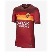 Nike roma y nk brt stad jsy ss hm t-shirt, unisex bambini, team crimson/dark team red/(university gold) (full sponsor), xl