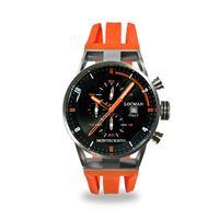 Locman orologio Locman montecristo crono con cassa acciaio titanio e cinturino silicone arancio 051000bkfor0goo