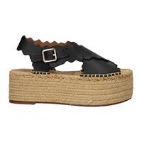 Chloé sandali donna pelle nero 41