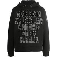 Moncler Grenoble felpa con stampa - di colore nero