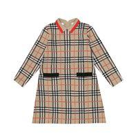 Burberry Kids abito a quadri in lana merino