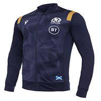 Macron sru m20 navy/gold sr, anthem jacket senior scotland rugby 2020/21 uomo, blu, s
