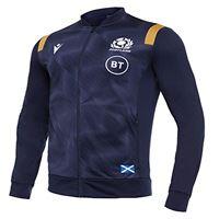 Macron sru m20 navy/gold sr, anthem jacket senior scotland rugby 2020/21 uomo, blu, xxl