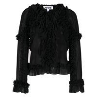 Koché blusa con scollo a v - nero