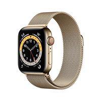 Apple novità Apple watch series 6 (gps + cellular, 40 mm) cassa in acciaio inossidabile color oro con loop cassa in maglia milanese color oro