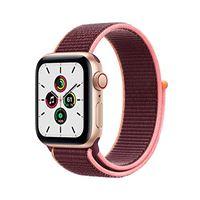Apple novità Apple watch se (gps + cellular, 40 mm) cassa in alluminio color oro con sport loop prugna