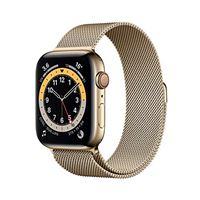 Apple novità Apple watch series 6 (gps + cellular, 44 mm) cassa in acciaio inossidabile color oro con loop cassa in maglia milanese color oro
