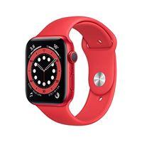 Apple novità Apple watch series 6 (gps, 44 mm) cassa in alluminio product(red) con cinturino sport product(red)