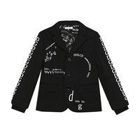 Dolce & Gabbana Kids blazer a stampa in cotone