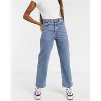Selected femme - kate - jeans dritti a vita alta blu