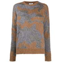 LIU JO maglione con motivo camouflage - grigio