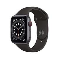 Apple novità Apple watch series 6 (gps + cellular, 44 mm) cassa in alluminio grigio siderale con cinturino sport nero