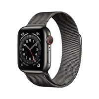 Apple novità Apple watch series 6 (gps + cellular, 40 mm) cassa in acciaio inossidabile color grafite con loop cassa in maglia milanese color grafite