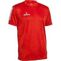 Derbystar contra trikot, maglia da bambino, rosso/bianco, 164