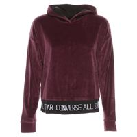 Converse velour hood sweater logo