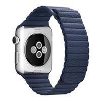 Apple 42mm leather loop cinturino per orologio blu notte