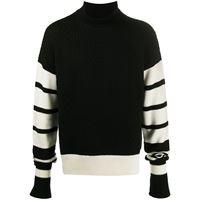 Neil Barrett maglione con dettaglio a righe - nero