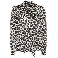 Saint Laurent blusa a stampa leopardo in seta