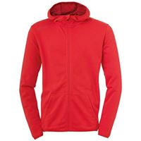 uhlsport essential hood jacket, giacca bambini, rot, 152