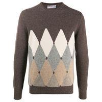 Ballantyne maglione con stampa - marrone