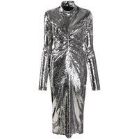 Act N°1 abito midi shimmery - argento