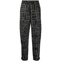 Moncler Grenoble pantaloni dritti con logo - grigio