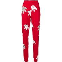 Philipp Plein pantaloni slim con stampa - rosso