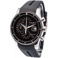 Locman island / orologio uomo / quadrante nero / cassa acciaio e titanio / cinturino silicone nero