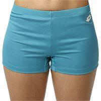 Lotto th pl - pantaloncini da donna, colore: blu, bianco, taglia xs