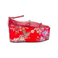 Gucci ballet flat with removable platform - rosso