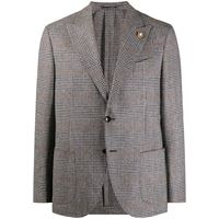 Lardini blazer monopetto a quadri - grigio
