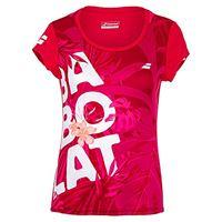 Babolat exercise graphic tee girl, maglietta unisex-bambini, rosa rossa, 10-12 años