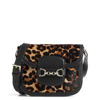 Abro cavallino leopard diana borsa a tracolla nero/marrone