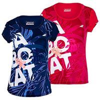 Babolat exercise graphic tee w, maglietta donna, bianco/bianco, xo