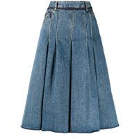 Maison Margiela shorts a gamba ampia - blu