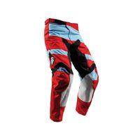 Thor pantaloni motocross Thor pulse level red-blue