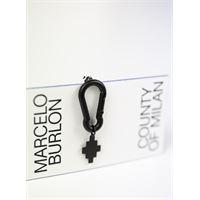 MARCELO BURLON orecchino single cross snap-hook earrings uomo