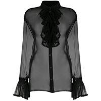 Maison Margiela blusa semi trasparente - nero