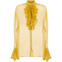 Maison Margiela blusa semi trasparente - giallo